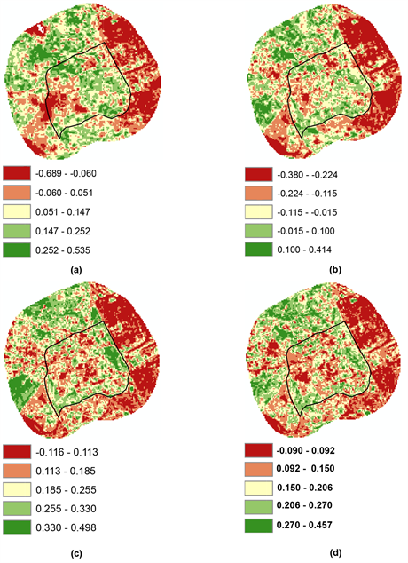 Analysis of the Relationship between Land Surface Temperature and