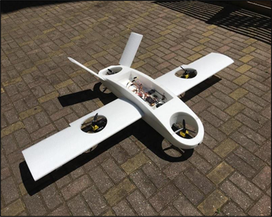 Development of Autonomous VTOL UAV for Wide Area Surveillance