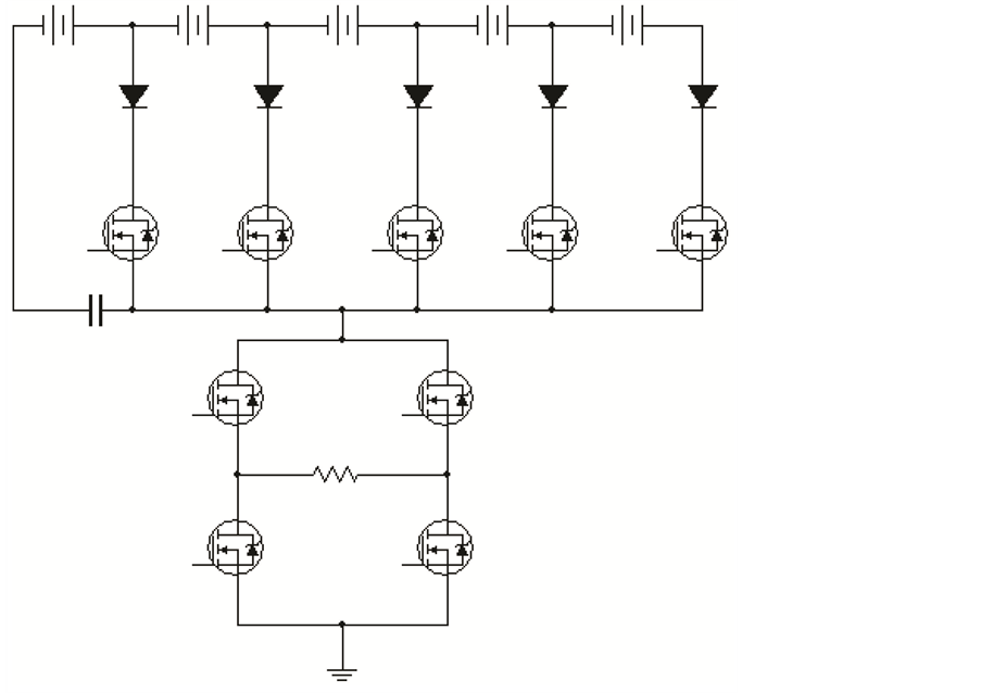 minimization of switching devices and driver circuits in multilevel inverter