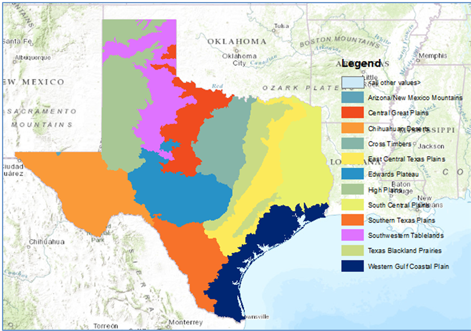 Sustainability Atlas of Texas Ecoregions