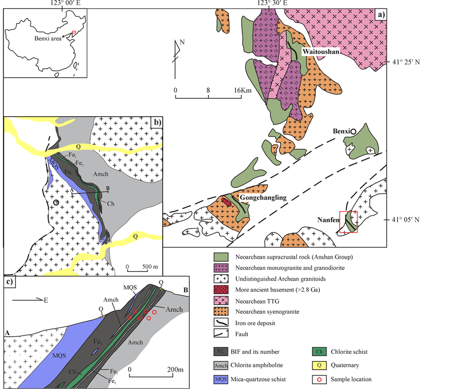 Geochemistry And Tectonic Significance Of Chlorite Amphibolite In - Benxi map
