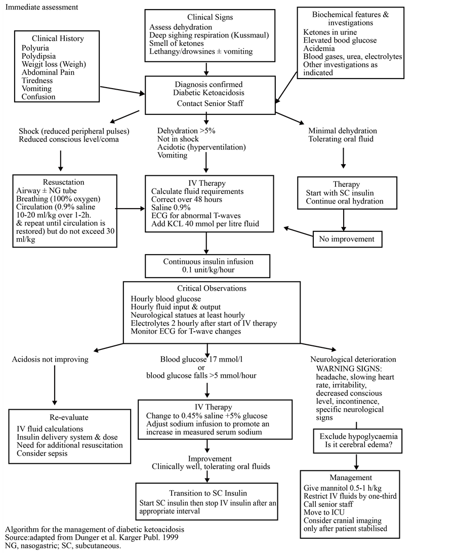 Diabetic flow chart images free any chart examples issues in diagnosis and treatment of type 1 diabetes mellitus in 17 flow chart of dka pooptronica