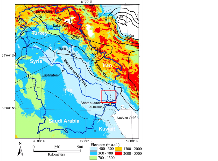 HydroPolitics Of The Tigris And Euphrates Basins - Tigris and euphrates river map
